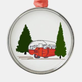 Vintage Camping Metal Ornament