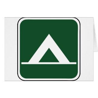 Vintage Camping Sign Card