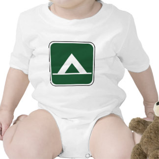 Vintage Camping Sign Baby Creeper