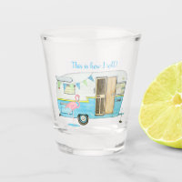 Vintage Camping Trailer Shot Glass