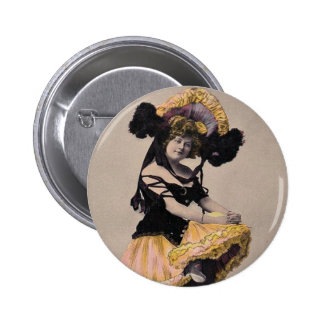 *Vintage Can Can Dancer* Button