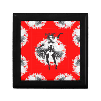 Vintage Can Can Dancer Red & Black Gift Box