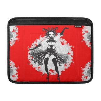 Vintage Can Can Dancer Red & Black MacBook Sleeve