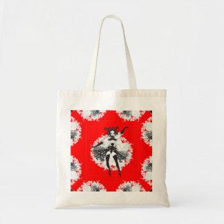 Vintage Can Can Dancer Red & Black Tote Bag