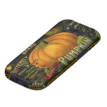 Vintage Can Label Art, Butterfly Pumpkin Vegetable Galaxy S3 Case