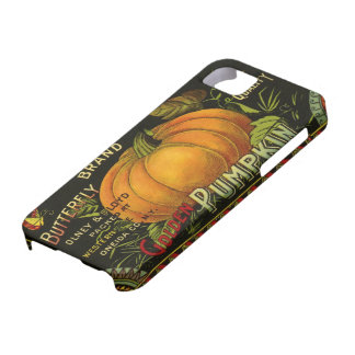 Vintage Can Label Art, Butterfly Pumpkin Vegetable iPhone SE/5/5s Case