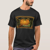 Vintage Can Label Art, Butterfly Pumpkin Vegetable T-Shirt