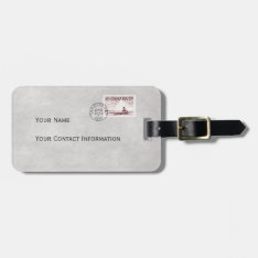Vintage Canada Eskimo And Iceberg Stamp Case Tag at Zazzle
