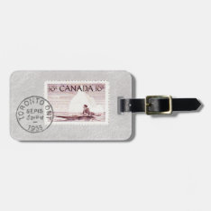 Vintage Canada Eskimo And Iceberg Stamp Tag V2 at Zazzle
