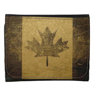 Vintage Canada Flag #2 Leather Wallets