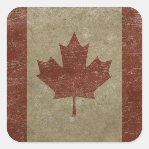Vintage Canada Flag Sticker