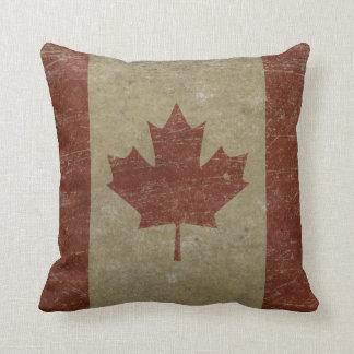 Vintage Canada Flag Throw Pillow