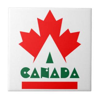 Vintage Canada Travel Promo Red Maple Leaf Tile