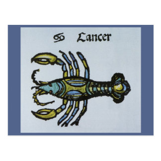 Vintage Cancer the Crab Antique Sign of the Zodiac Postcard