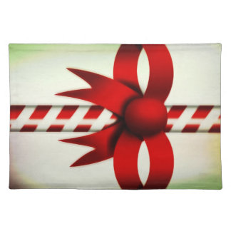 Vintage Candy Cane Placemat