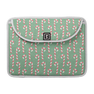 Vintage Candy Canes Pattern MacBook Pro Sleeve