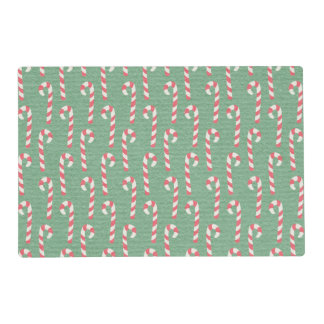 Vintage Candy Canes Pattern Placemat