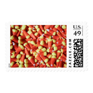 Vintage candy in old fashioned candy shop postage stamps