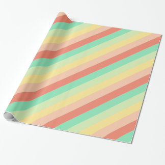 Vintage Candy Jar Stripes Wrapping Paper