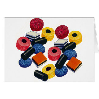 Vintage Candy Liquorice Allsorts All Sorts Card