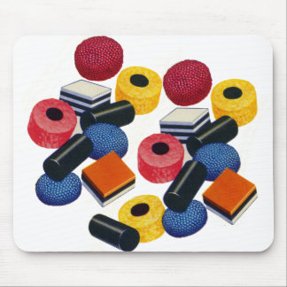 Vintage Candy Liquorice Allsorts All Sorts Mouse Pad