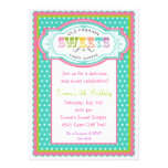 Vintage Candy Parlor Birthday Invitations