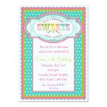 "Vintage Candy Parlor Birthday Invitations 5"" X 7"" Invitation Card"