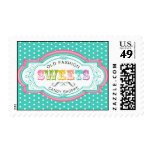 Vintage Candy Parlor Postage Stamps