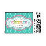 Vintage Candy Parlor Postage Stamps