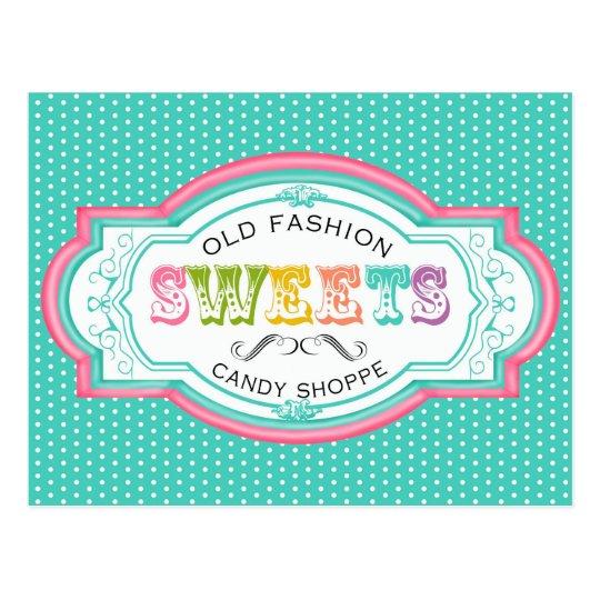 Vintage Candy Parlor Postcard
