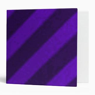 Vintage Candy Stripe Amethyst Purple Vinyl Binders