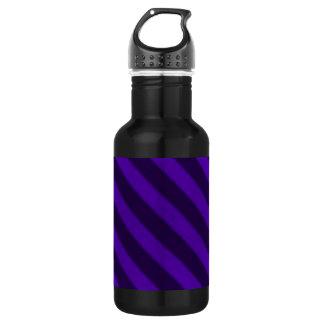 Vintage Candy Stripe Amethyst Purple Grunge Stainless Steel Water Bottle