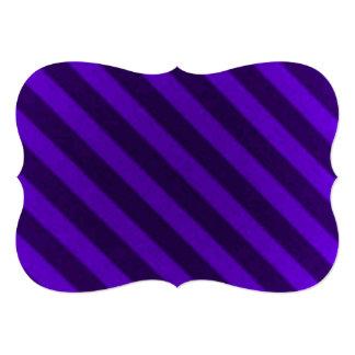 Vintage Candy Stripe Amethyst Purple Custom Invite
