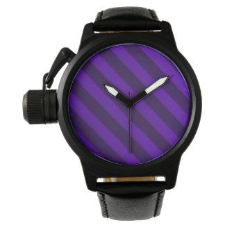 Vintage Candy Stripe Amethyst Purple Watches
