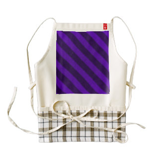 Vintage Candy Stripe Amethyst Purple Zazzle HEART Apron