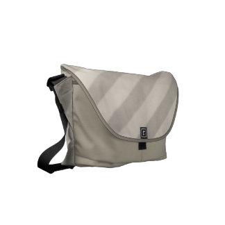 Vintage Candy Stripe Beige Taupe Small Messenger Bag