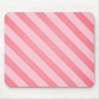 Vintage Candy Stripe Coral Persimmon Grunge Mouse Pad