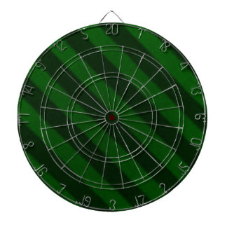 Vintage Candy Stripe Emerald Green Grunge Dartboard
