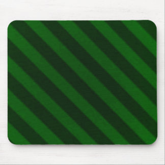 Vintage Candy Stripe Emerald Green Grunge Mouse Pad