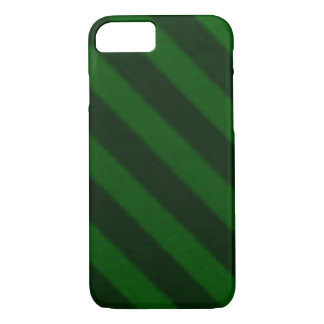 Vintage Candy Stripe Emerald Green iPhone 7 Case