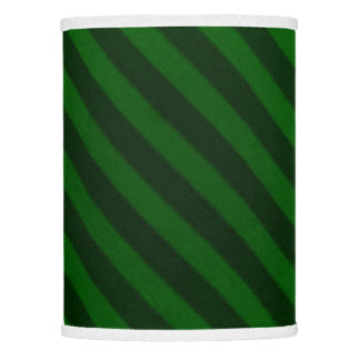 Vintage Candy Stripe Emerald Green Lamp Shade