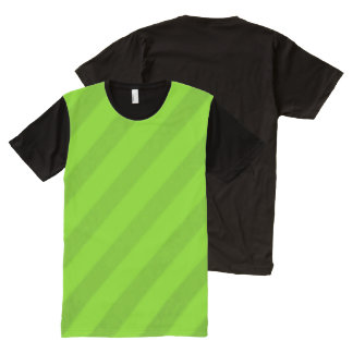 Vintage Candy Stripe Key Lime Green All-Over-Print T-Shirt