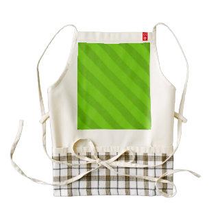 Vintage Candy Stripe Key Lime Green Zazzle HEART Apron