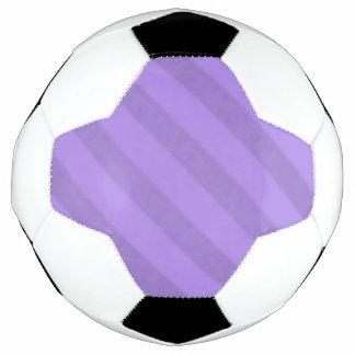 Vintage Candy Stripe Lavender Purple Soccer Ball