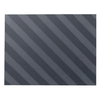 Vintage Candy Stripe Navy Gray Black Grunge Notepad