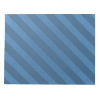 Vintage Candy Stripe Powder Blue Grunge Notepad