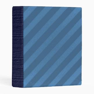 Vintage Candy Stripe Powder Blue Mini Binder