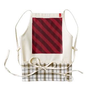 Vintage Candy Stripe Red Zazzle HEART Apron