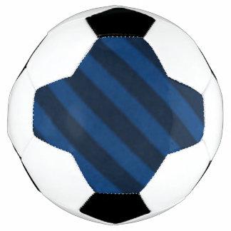Vintage Candy Stripe Sapphire Blue Soccer Ball