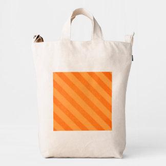 Vintage Candy Stripe Tangerine Orange Duck Bag
